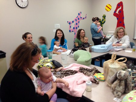 The breastfeeding support group meets every Wednesday at 11 am at Akron Children's Hospital.