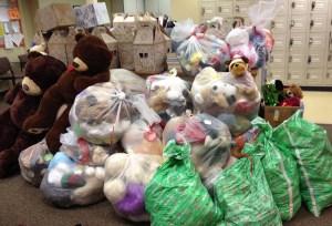 Stuffed animals in volunteer office