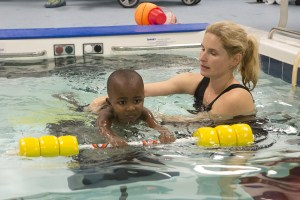 Jude in water therapy