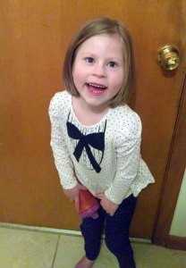 Saige has Prader Willi syndrome