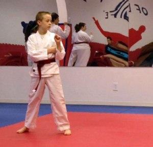 Trevor taking Tae Kwon Do belt test