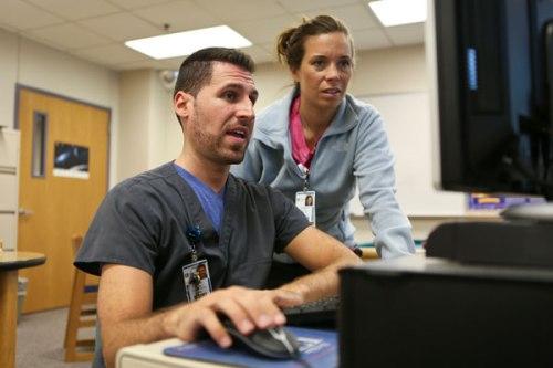 Adam Bonezzi and nurse Rebekah Petit