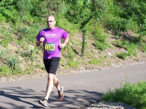 Matt running in the Wooster Wellness 5K