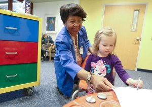 """Girseal Dixon hits the ground running as Beeghly campus' first """"Foster Grandparent"""""""