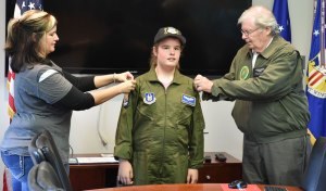 "Poland girl shares ""Pilot for a Day"" experience with Air Force veteran grandfather"