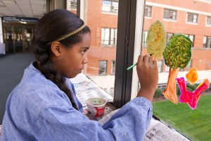 Fall foliage especially designed to make patients, staff smile
