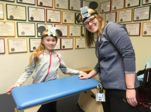 Occupational Therapy Session Is Also a Meeting of Minds for 2 Disney Fans
