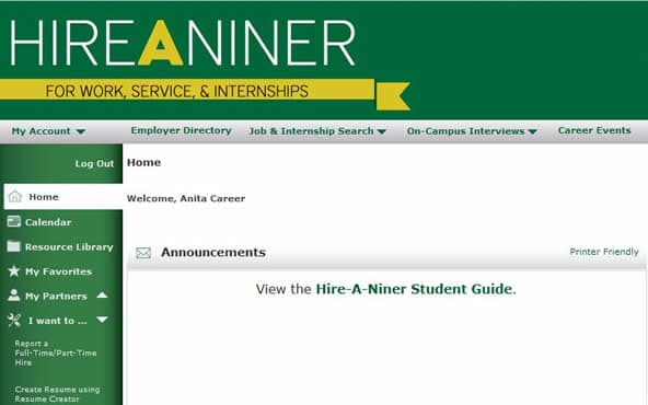 University Career Center to launch Hire-A-Niner Inside UNC