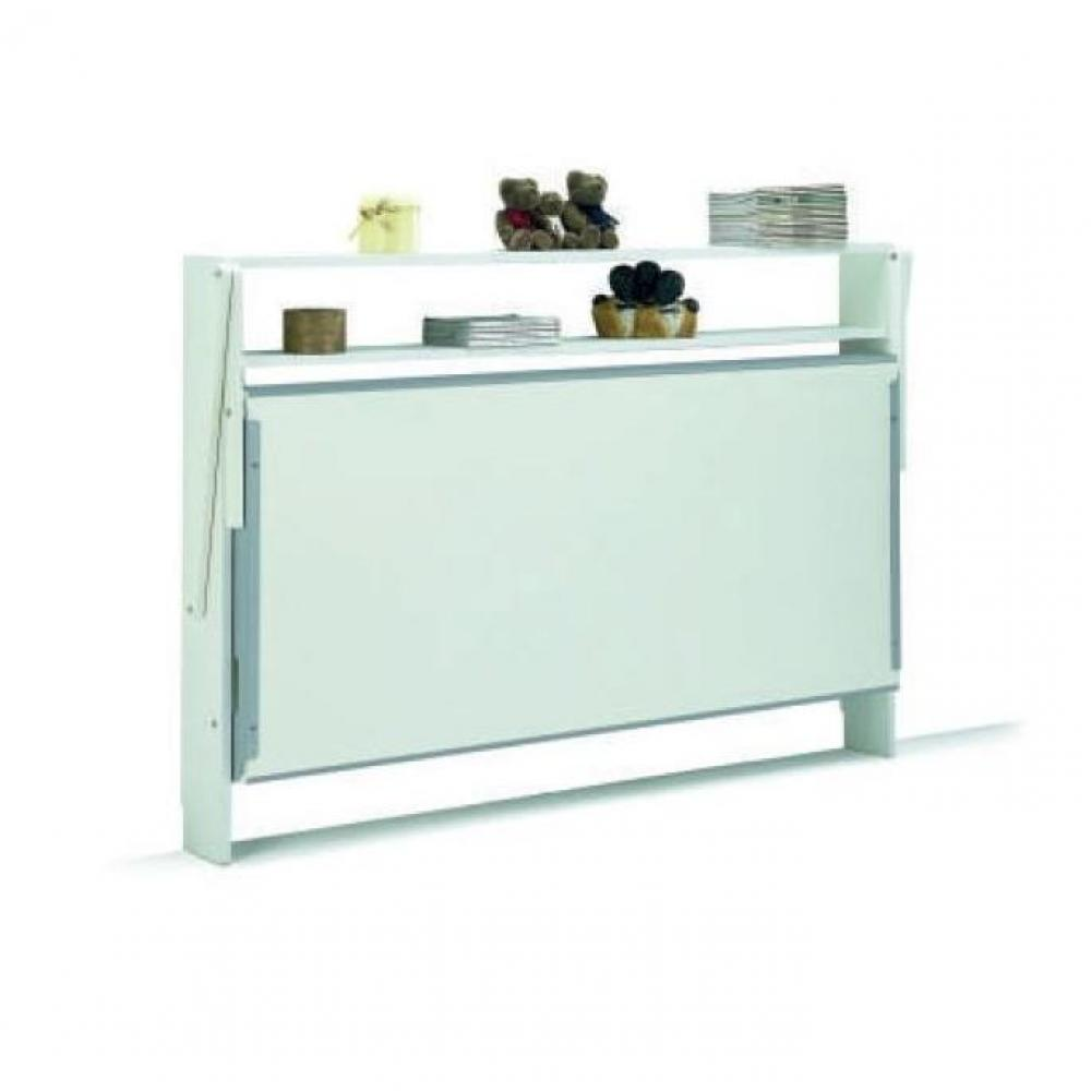 Table Reglable Hauteur Fly Console Blanc Laqué Fly