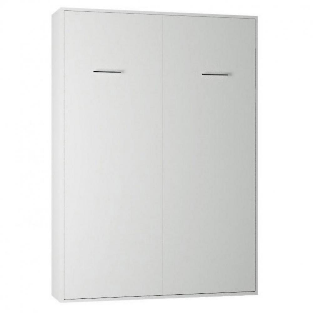 Lit Escamotable Vertical Armoire Lit Escamotable Smart V2 Blanc Mat Couchage 140 200cm