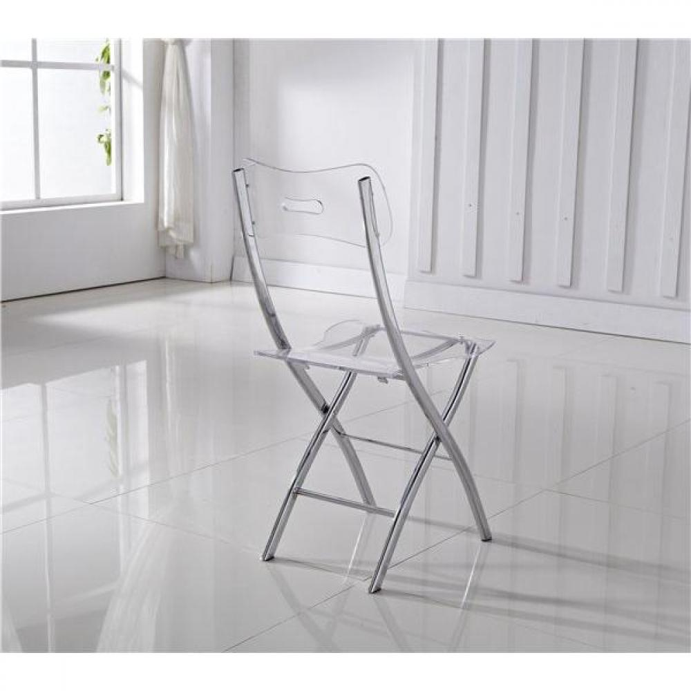 Chaises Transparentes Suisse Lot De 2 Chaises Pliantes Widow En Plexiglas Transparent