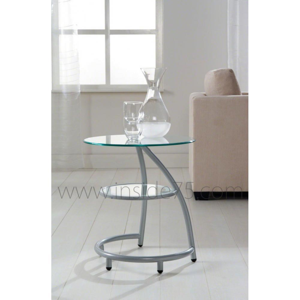 Sellette Design Verre Tables Basses, Meubles Et Rangements, Curves Bout De