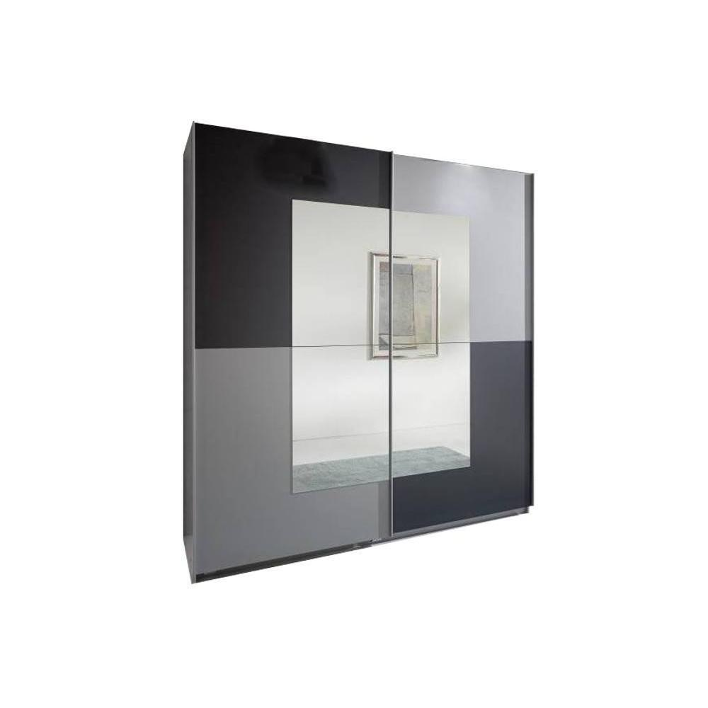 Meuble Aluminium Design Dressing à Portes Coulissantes Jagger 180cm Coloris Anthracite Aluminium
