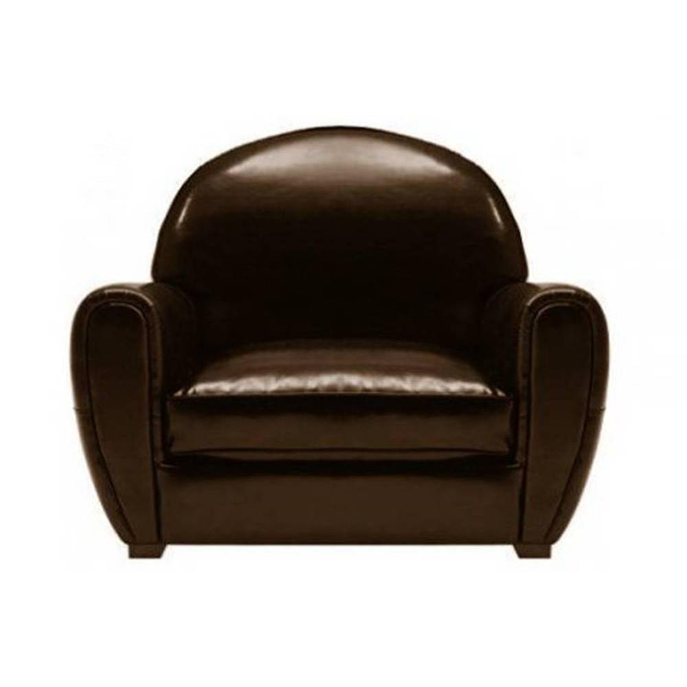Canape Club Cuir Marron Fauteuil Club Marron Brillant En Cuir Recyclé Made In Italy