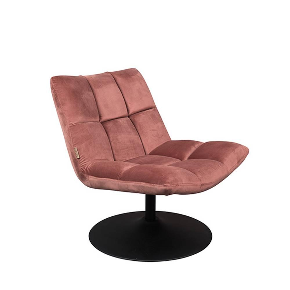 Fauteuil Velours Rose Fauteuil Pivotant Bar Lounge De Dutchbone Velours Rose