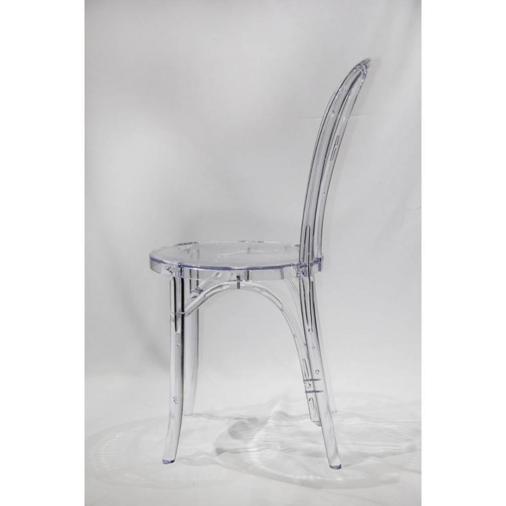 Lot 4 Chaises Transparentes Lot De 4 Chaises Design Bistrot Paris En Polycarbonate Transparent