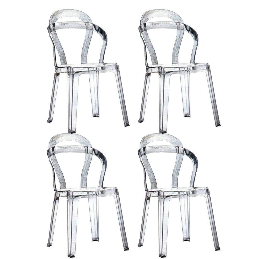 Lot De Chaises Design Lot De 4 Chaises Design Rainbow En Plexiglas Transparent