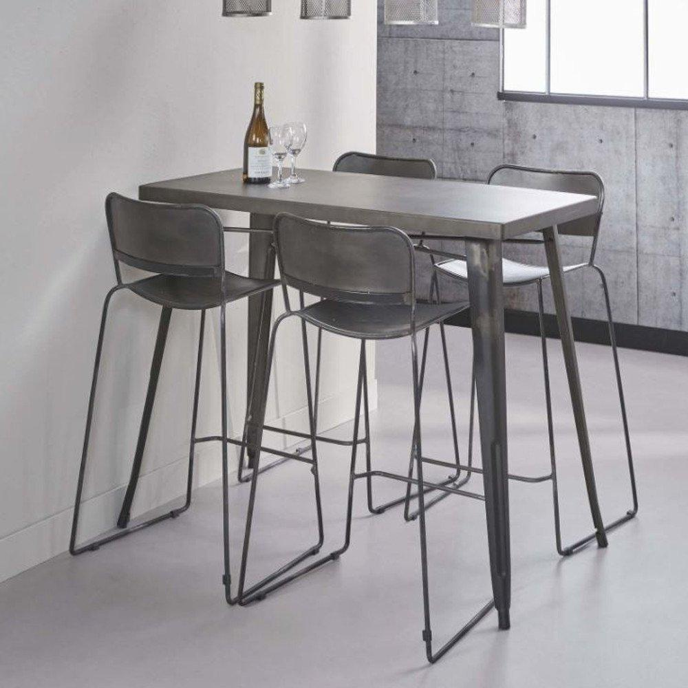 Table Bar Industriel Table De Bar 120 60 Cm Industry Style Industriel En Acier