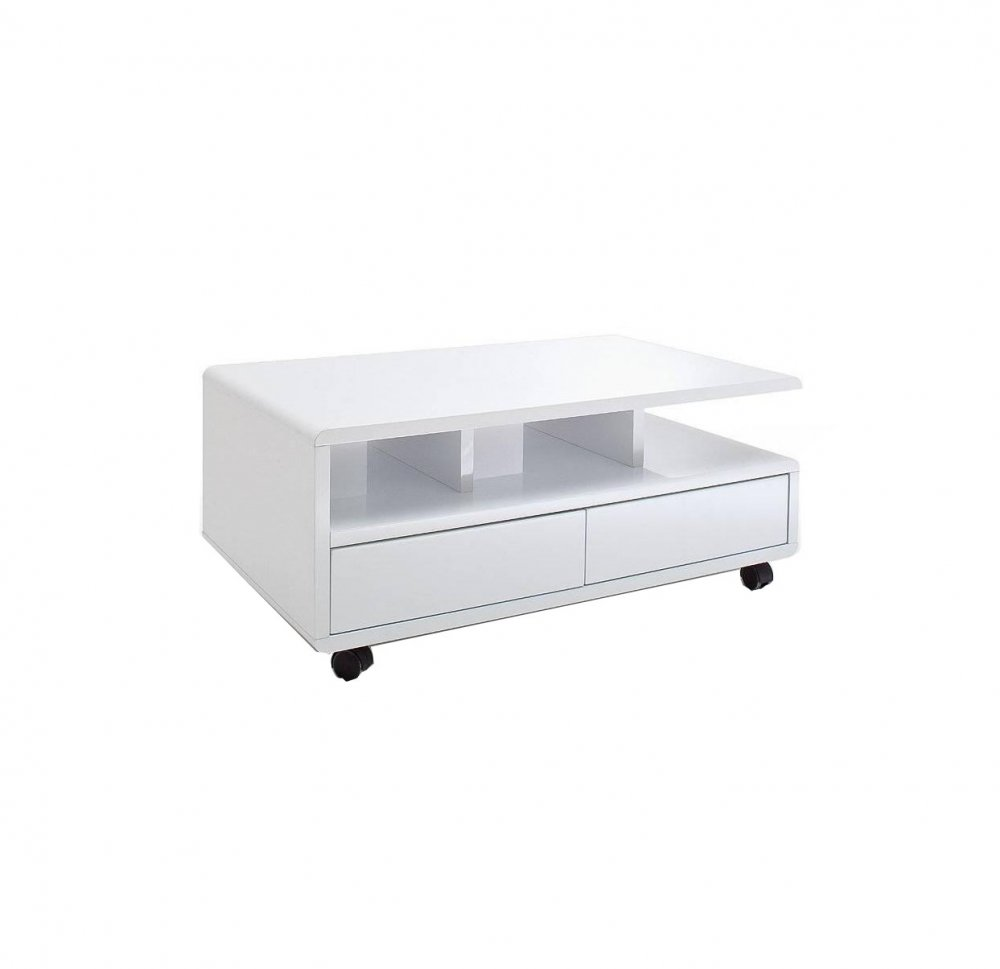 Table Basse Laquee Blanc Table Basse Chartres Laqué Blanc Brillant