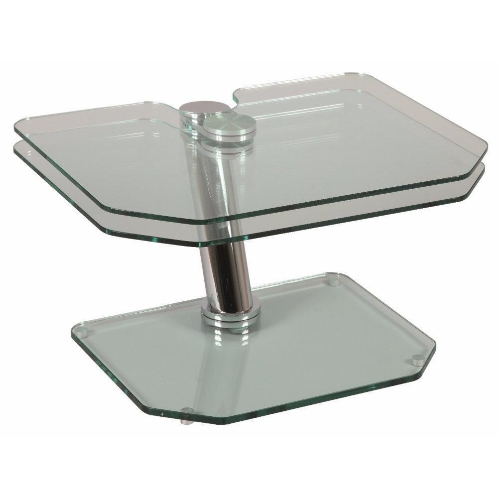 Table Basse Blanche Fly Table Basse Fly Double Plateaux