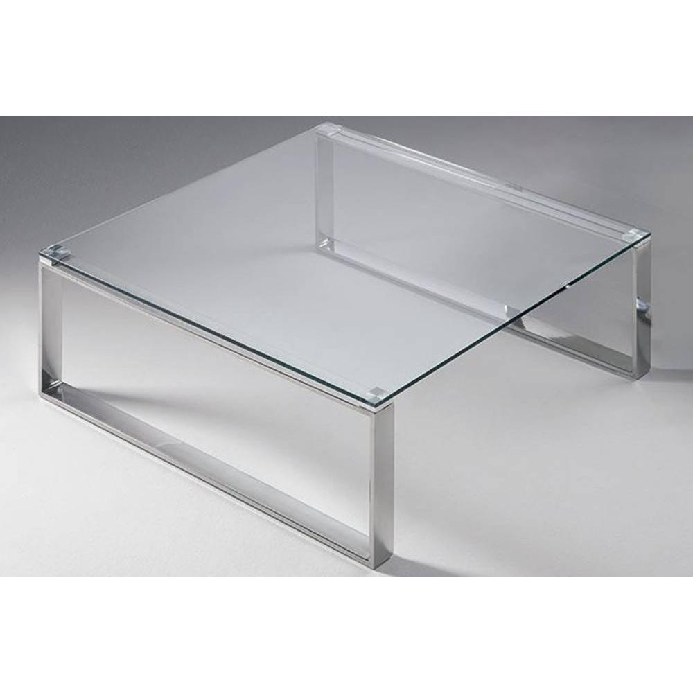 Table Design Carrée Table Basse Carrée Zoe En Verre Transparent