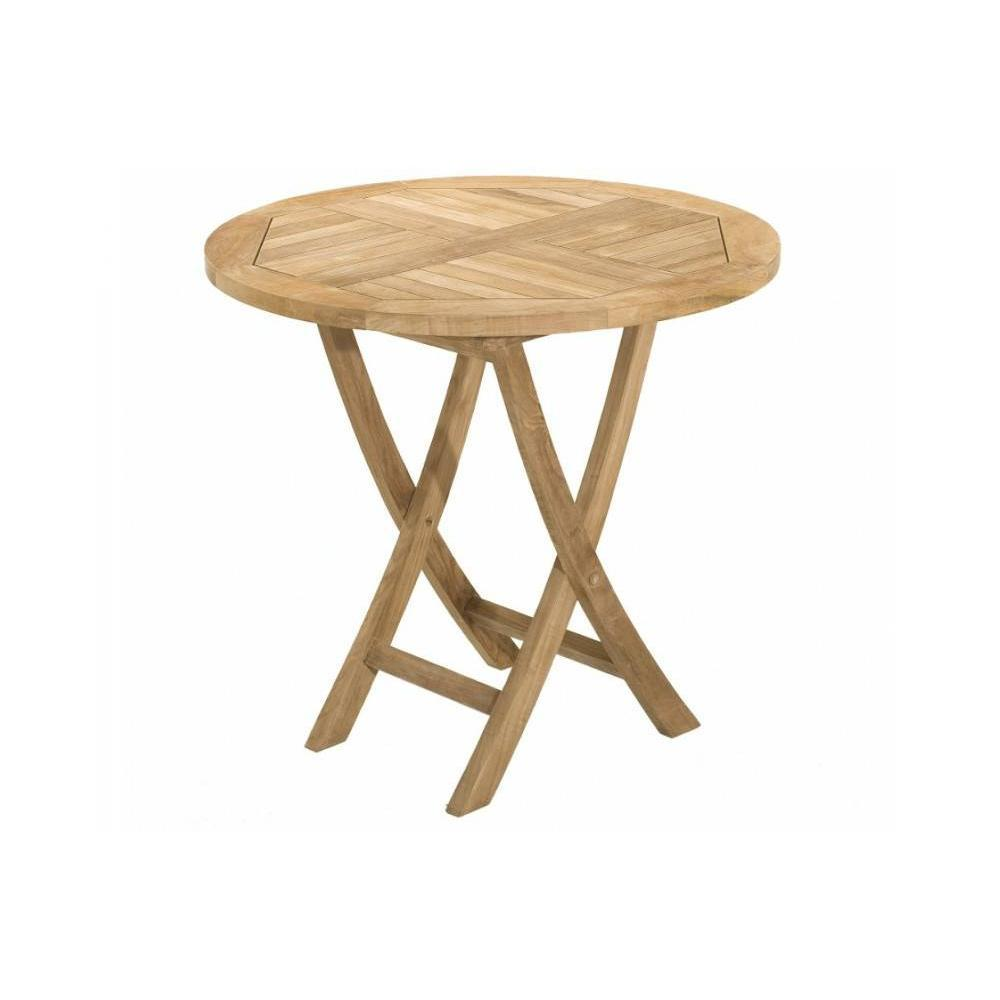 Table Ronde 80 Cm Table Ronde Pliante De Jardin 80 80 Cm En Teck
