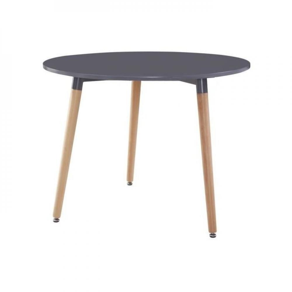 Table Scandinave Noire Table Ronde Style Scandinave Norway 80 X 75 Cm Noir Mat