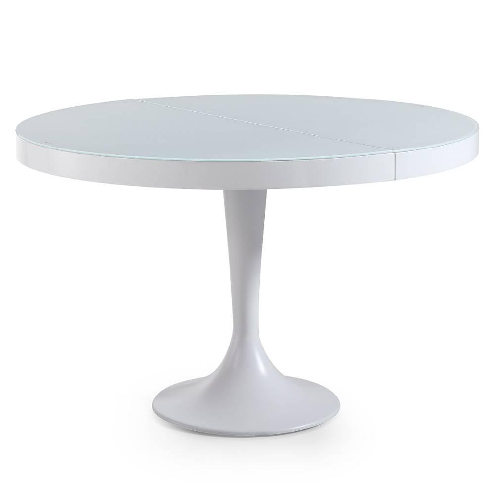 Table Blanche Extensible Tables, Tables Et Chaises, Table Ronde Extensible Tulipe