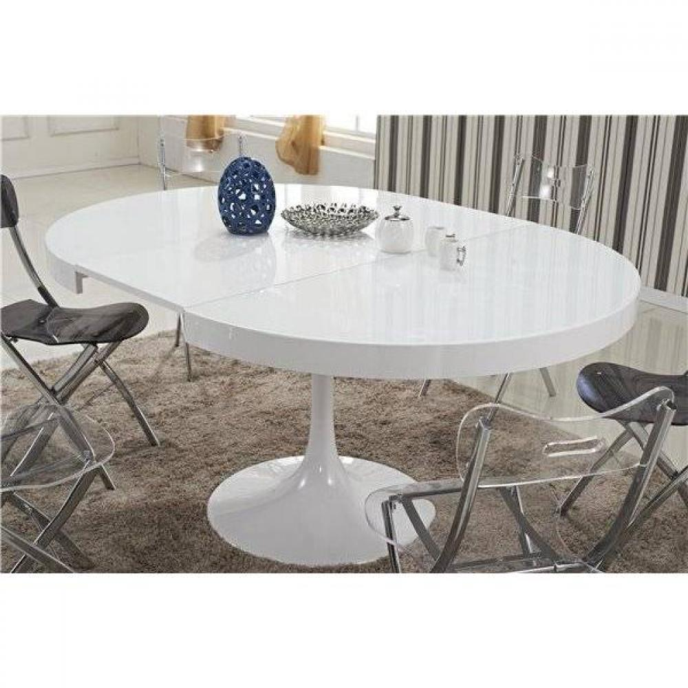Table Ronde Laquée Blanc Extensible Table Ronde Extensible Blanche