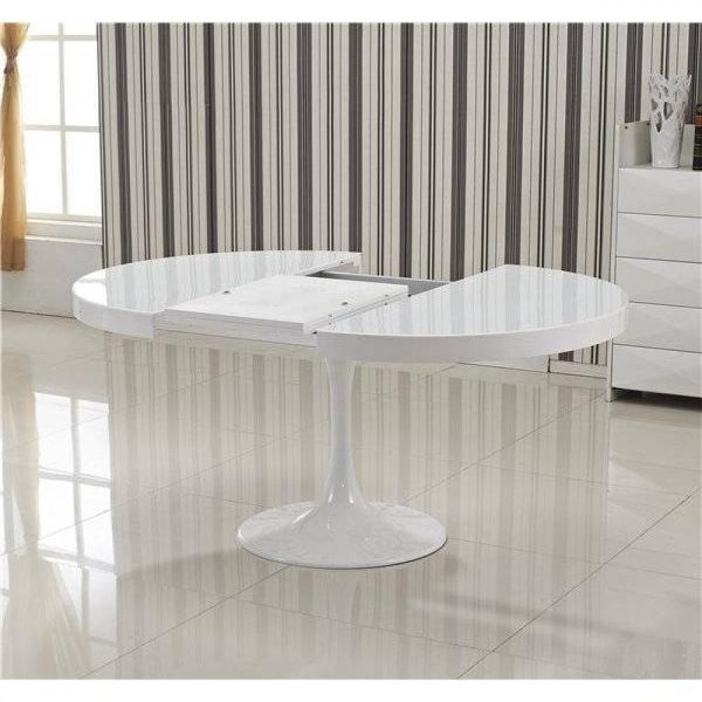 Table Ronde Blanche Rallonge Tables Design Au Meilleur Prix Table Ronde Extensible Tulipe