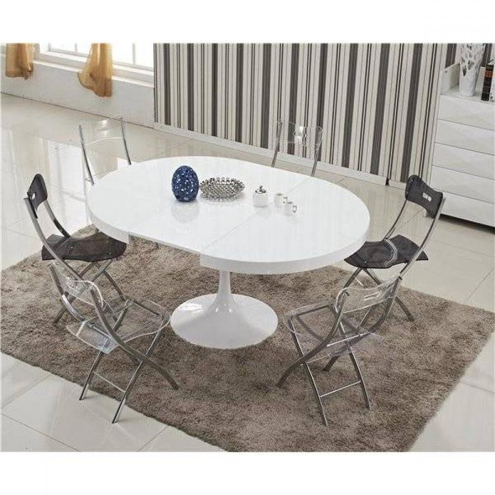 Table Ronde Laquée Blanc Extensible Tables Design Au Meilleur Prix Table Ronde Extensible Tulipe