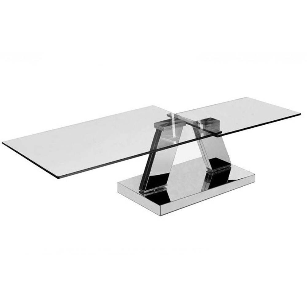 Table Basse Ronde En Verre Design Table Basse Design Twin Glass à Double Plateaux Pivotants
