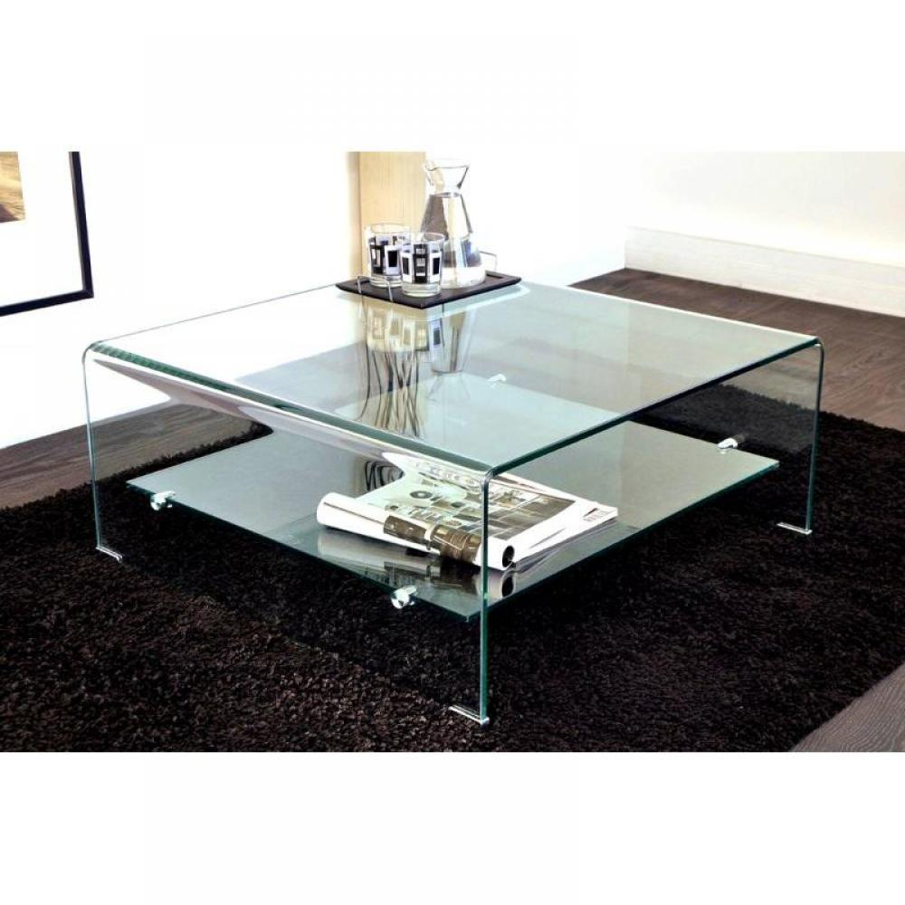Table Basse Carrée Verre Table Basse Carrée, Ronde Ou Rectangulaire Au Meilleur
