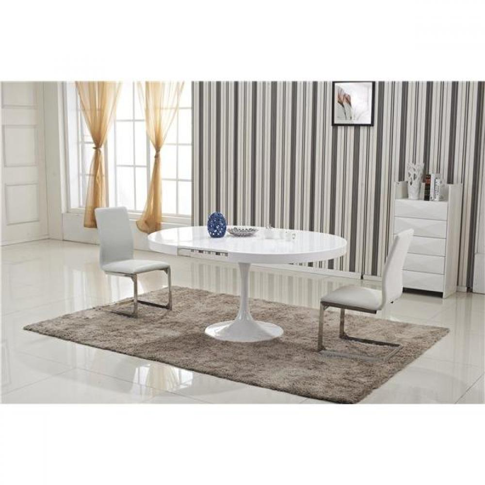 Table Blanche Extensible Lits Escamotables, Armoires Lits Escamotables, Table Ronde