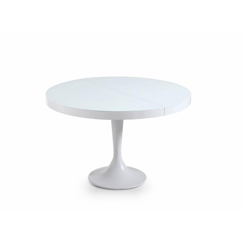 Table Blanche Extensible Tables Repas, Tables Et Chaises, Table Ronde Extensible
