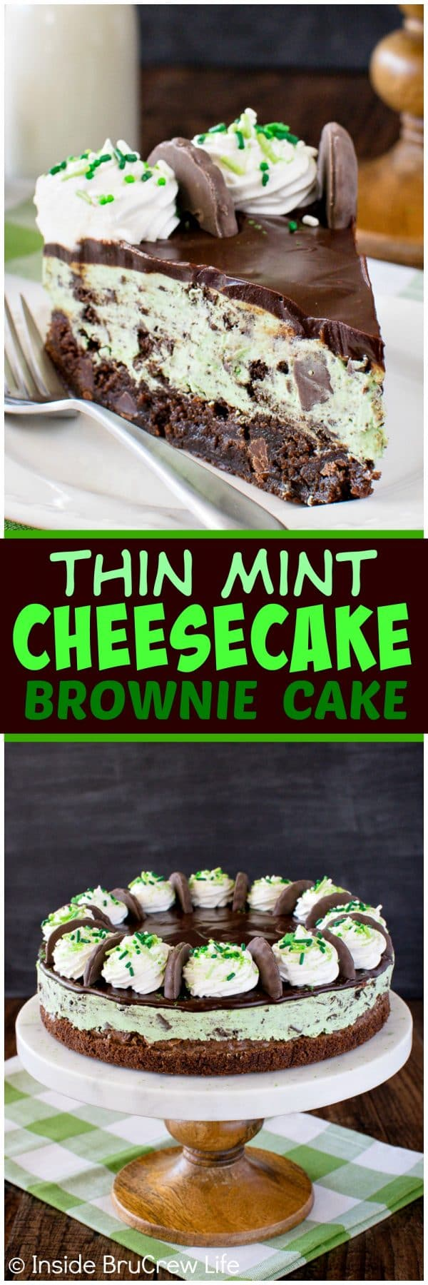 Cookie Nachtisch Thin Mint Cheesecake Brownie Cake Inside Brucrew Life