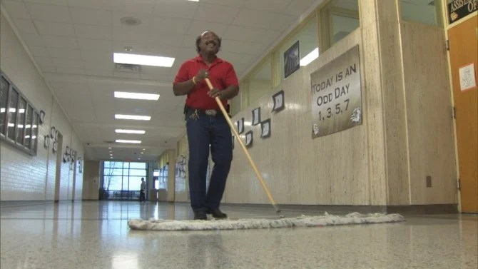 Black Bathroom Meet The Singing High School Janitor Who Brings Music To