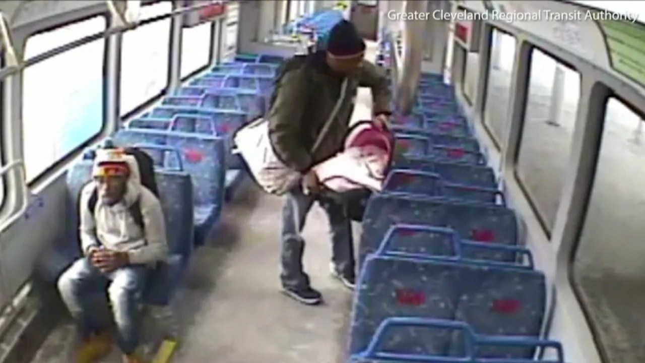 Infant Baby In Carrier Ohio Dad Chases Train Leaving Station With Baby On Board