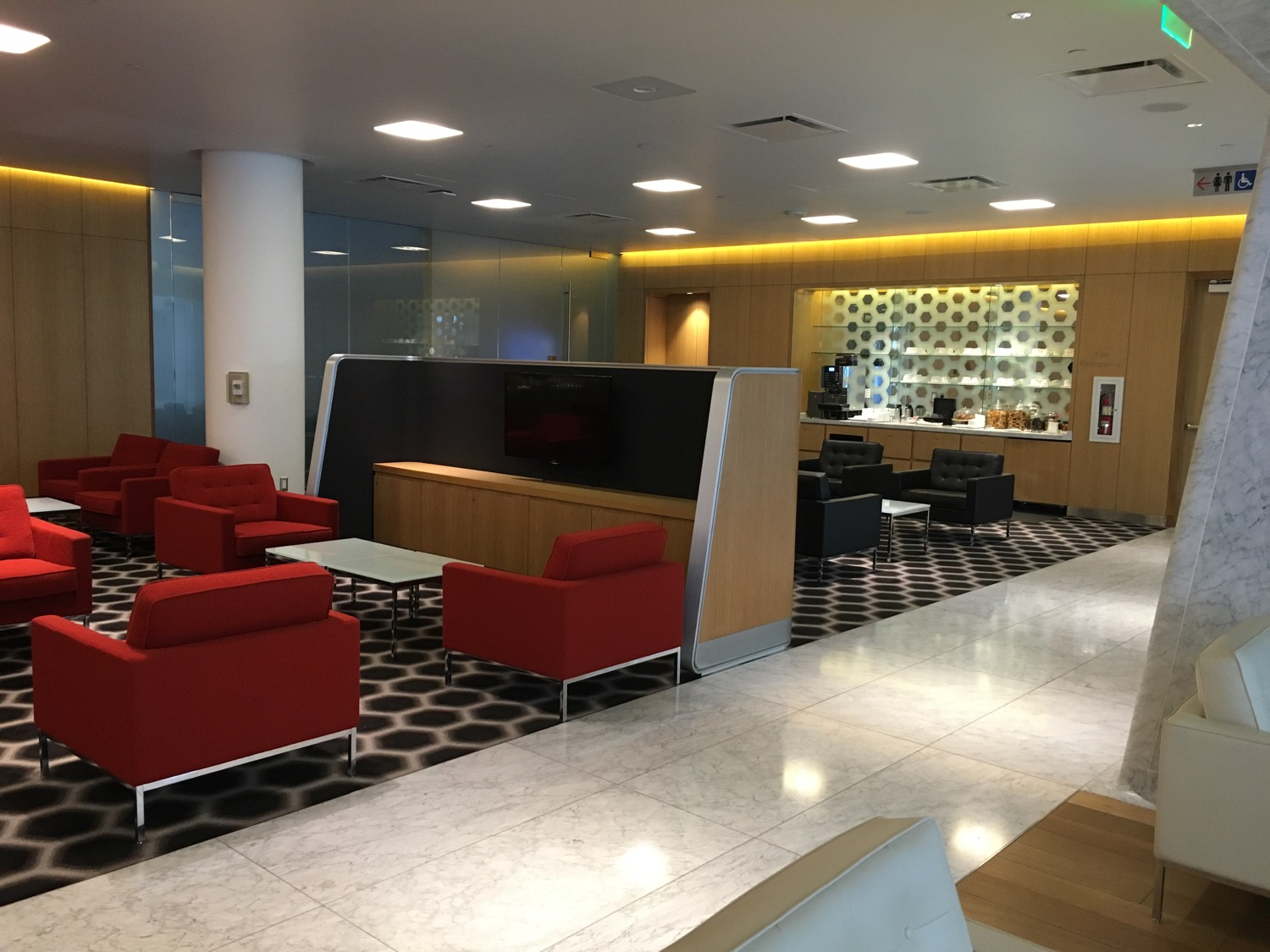 Air Lounge Sessel Review Qantas First Class Lounge In Los Angeles