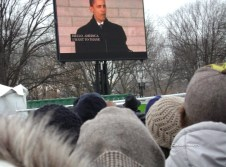 Part of the crowd on the Mall during inauguration 2009