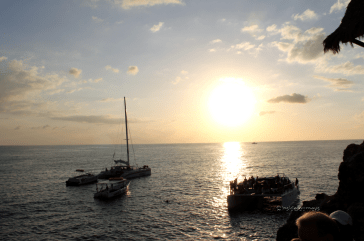 Sunset boats, Negril