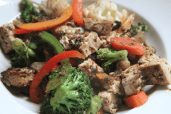 Stir Fry Vegetables with Jerk Tofu