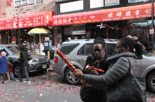 Chinese New Year Celebration in New York's Chinatown