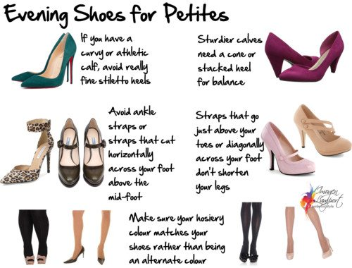 Choosing Evening Shoes For Short Legs