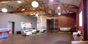 """A photo of TTS Studios, the soundstage where we shot """"Guys Reading Poems"""""""