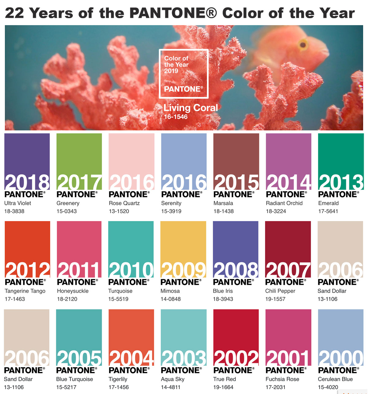 Pantone Color 2016 Drumroll Please Pantone S Color Of 2019 Is Living Coral Park
