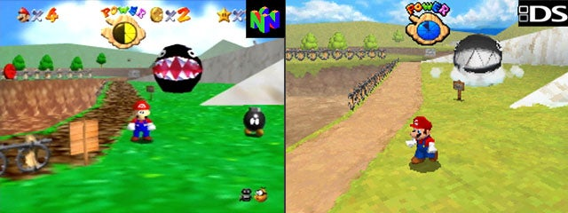 Screen Scratch Wallpaper Hd Mario 64 N64 Vs Ds