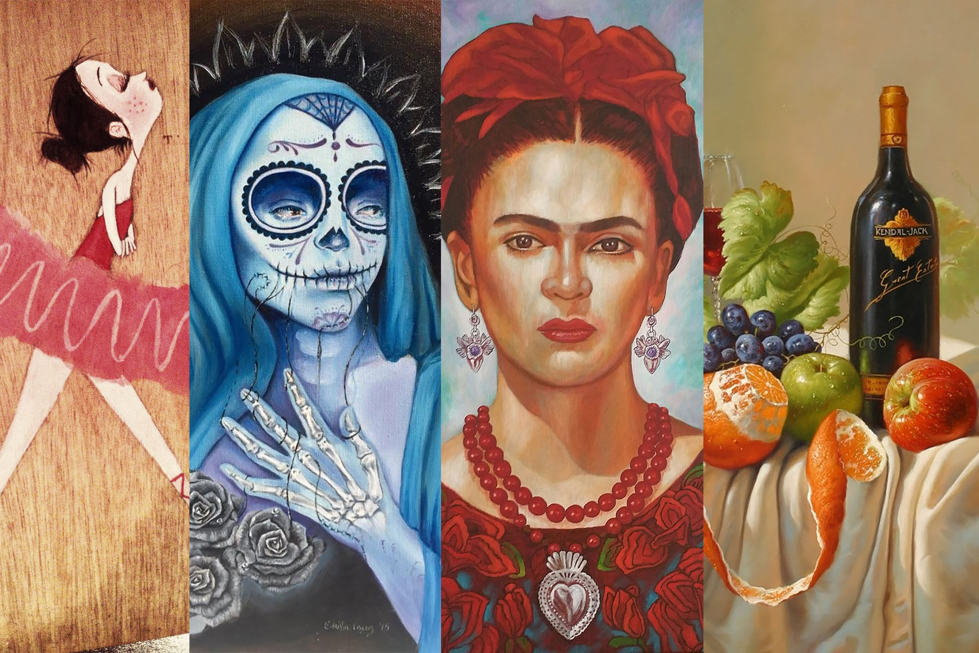 Arte Chicano Murals Featured Artists At Cinco De Mayo Mercado Inside San Gabriel