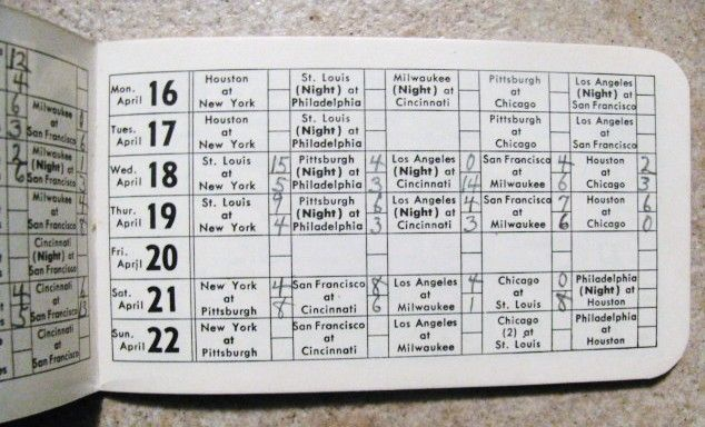 Item Detail - 1962 NATIONAL LEAGUE OFFICIAL SCHEDULE BOOKLET - METS