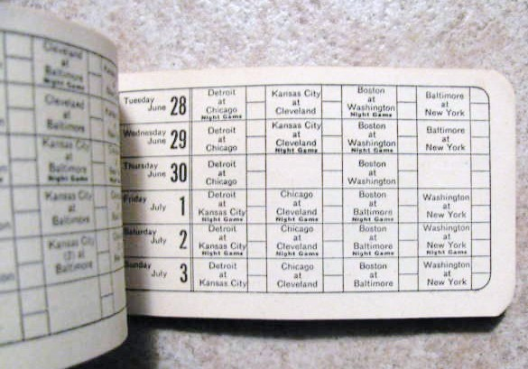 Lot Detail - 1955 AMERICAN LEAGUE SCHEDULE BOOKLET - NEW YORK